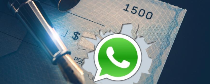 Attenzione alla truffa del falso assegno via Whatsapp
